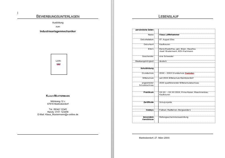 Die Bewerbung - Fachlehrer-mt.info